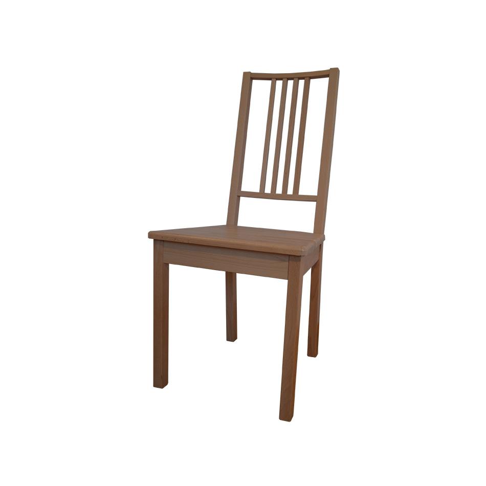 Стілець з твердим сидінням, прозорий, бук