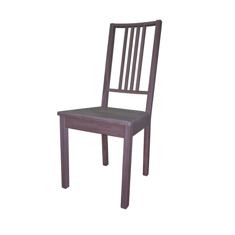 Стілець з твердим сидінням, прозорий, дуб